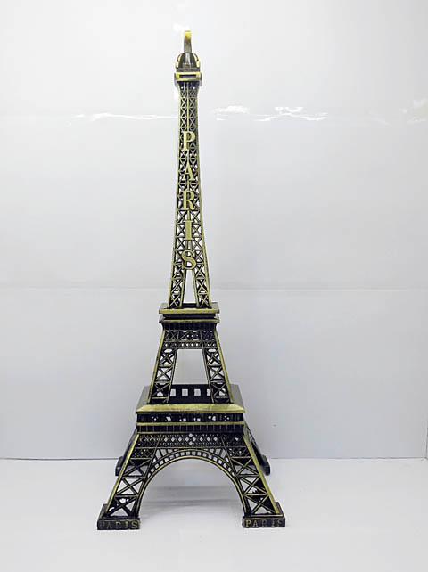 1x eiffel tower miniature model decoration 38cm high for Eiffel tower decorations for the home