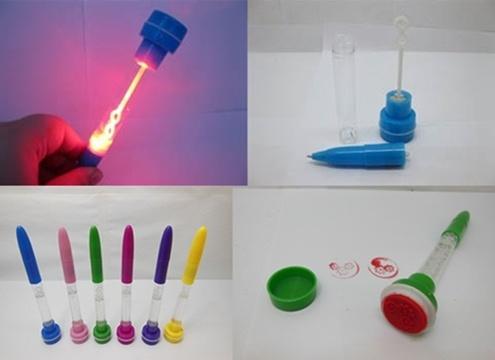 24x light up bubble pen stamps 4 in 1 bulk sale st p15 16 80