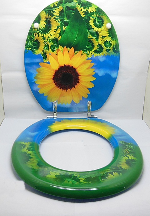 1x new sunflower toilet seat cover ebay. Black Bedroom Furniture Sets. Home Design Ideas