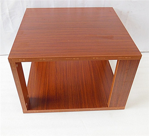 1x teak color square coffee table side table 60x60x40cm for Coffee table 60 x 40