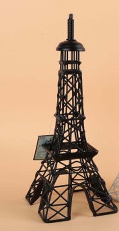 1x black eiffel tower miniature model decoration 32cm high for Eiffel tower decorations for the home