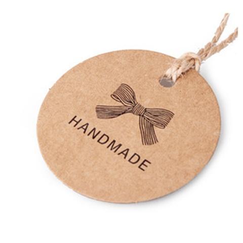 100 kraft handmade words on gift tag label wedding favour ot304