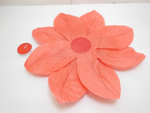 10 Red Chinese Paper Lotus Flower Floating Lanterns We F185