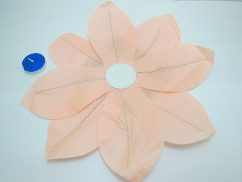 10 Chinese Paper Lotus Flower Floating Lanterns We F204 800
