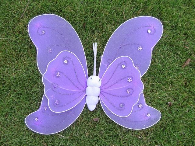 1X New Purple Butterfly Fairy Wings Dress-up [toy-o208] - $4 00